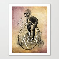Live and Ride Canvas Print