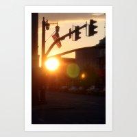 American Sunset Art Print