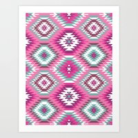 Navajo Dreams-Pink Art Print