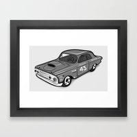 Stock Car 01 - Ted Schmilly Framed Art Print