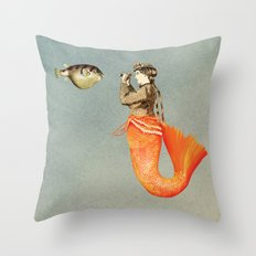 In search of realistic love Throw Pillow