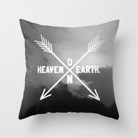 Heaven On Earth (B&W) Throw Pillow
