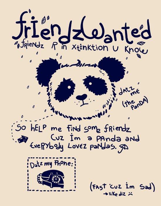 FriendZ WanTEd Art Print