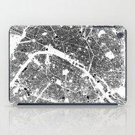 Paris Map Schwarzplan On… iPad Case