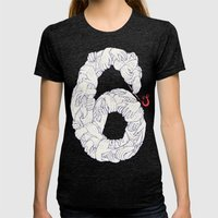 S6 Tee - Many Womens Fitted Tee Tri-Black SMALL