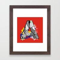 A for ….. Framed Art Print