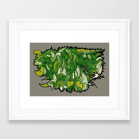Green Machine. Framed Art Print