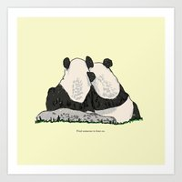 Find Someone To Lean On Art Print
