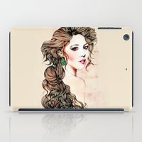 Woman With Long Hair  iPad Case