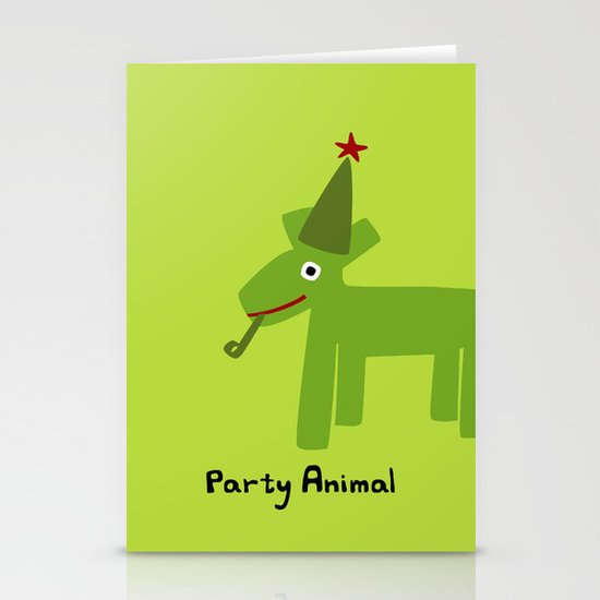 Party Animal-Green Stationery Card