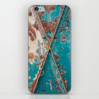 Teal and Rust iPhone & iPod Skin