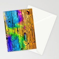 Technicolored Dream Plank Stationery Cards