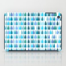 Blue water drops iPad Case