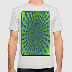 Circles Mens Fitted Tee Silver SMALL