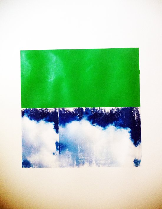 SKY/GRN Art Print