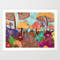 Alice In The Forest Art Print