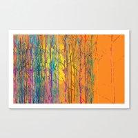 orange forest Canvas Print