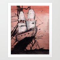 Sea of Ink Art Print