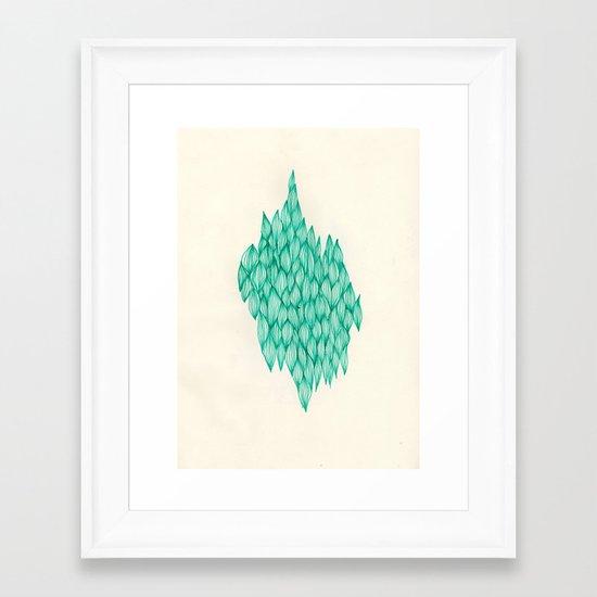 past participle Framed Art Print