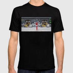 rent a bike SMALL Black Mens Fitted Tee