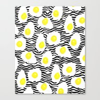 Egg Vibes Only Canvas Print