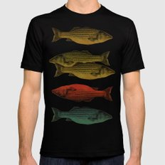 One fish Two fish Black Mens Fitted Tee SMALL