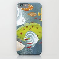 iPhone & iPod Case featuring Clovis chasing the fish by Sonia Poli