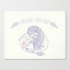 forever together cat Canvas Print