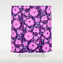 Shower Curtain - Layered Leaf Floral Pink - Jacqueline Maldonado