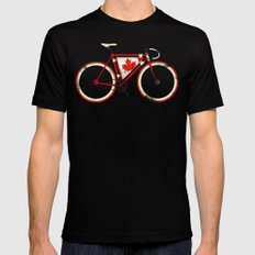 Love Bike, Love Canada Black SMALL Mens Fitted Tee