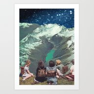 Art Print featuring FIELD TRIP by Beth Hoeckel Collage…