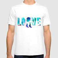 Head Over Heels In Love Mens Fitted Tee White SMALL