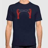 spidey hand trick Mens Fitted Tee Navy SMALL