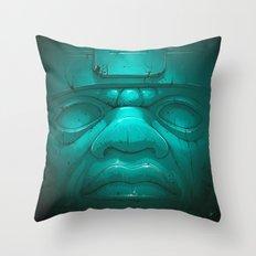 Olmeca III. Throw Pillow