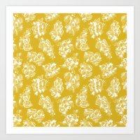 Mustard Floral Art Print