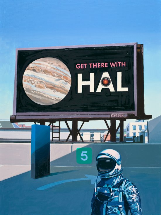 Get There With HAL Art Print