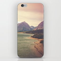 Retro Mountain Lake iPhone & iPod Skin