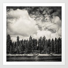 Far Away Clouds Passing By  Art Print