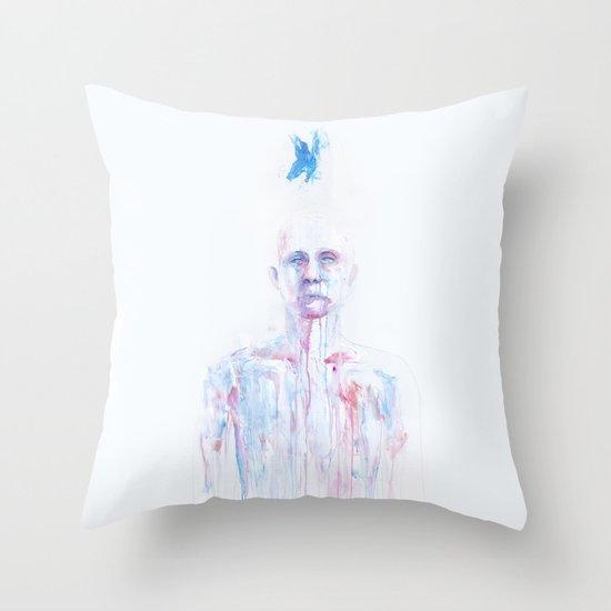 Last Blue Breath Throw Pillow