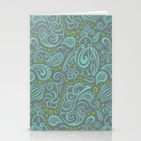 Festooned Feathered Frie… Stationery Cards
