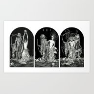 Death And The Maiden Tri… Art Print