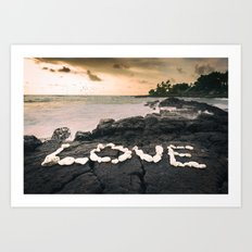 Love on the Rocks Art Print