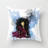 Butterfly Woman  Throw Pillow