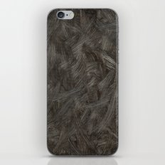 Black And White Brushstrokes Abstract Pattern Modern iPhone & iPod Skin