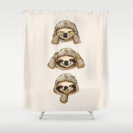 Shower Curtain - No Evil Sloth - Huebucket