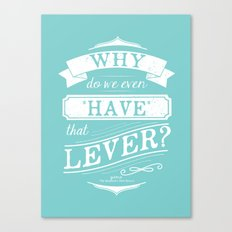 Why do we even have that lever? Canvas Print