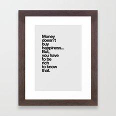 Money Framed Art Print