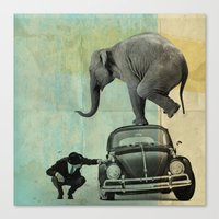 Looking For Tiny, Elepha… Canvas Print