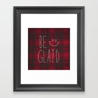 So Plaid Framed Art Print