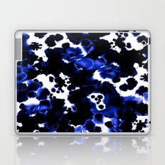 Watercolor indigo india ink boho girly trendy abstract painting brushstrokes dorm college painterly Laptop & iPad Skin